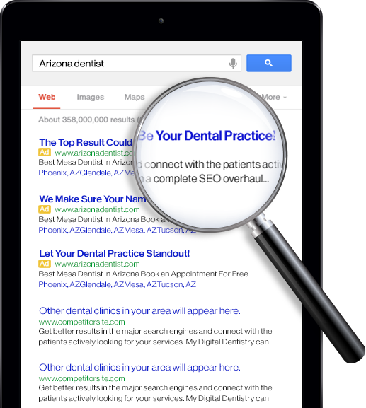 Google search results for Arizona Dentist
