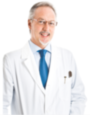 Middle-aged male physician