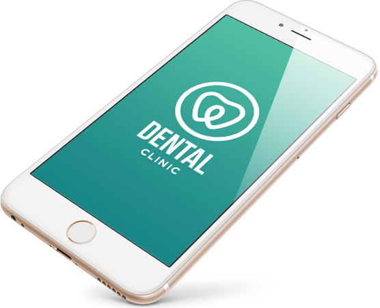 Smartphone showing dental clinic site